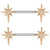 PAIR - Northern Star Steel Nipple Ring Barbells