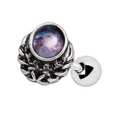 Galaxy Design Steel Cartilage Tragus Stud 16G