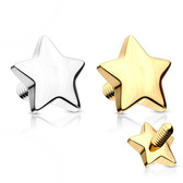 4mm Star 14kt Solid Gold Dermal Anchor Top