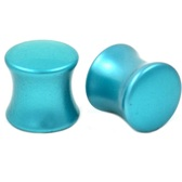 "Neon Teal Solid Acrylic Ear Plugs (6g-7/8"")"