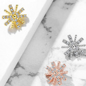 CZ Paved Snowflake Surgical Steel Dermal Anchor Top
