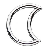 Moon Shaped Steel Hinged Segment Ring Hoop 18G-16G