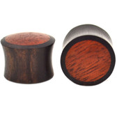 "Areng & Bloodwood Inlay Saddle Ear Plugs (2g-1"")"