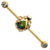 Queen Octopus Industrial Barbell 14G-34mm