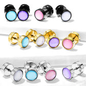 Luminous Epoxy Stone Fake Plug Earrings (0G Look)