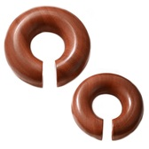 "Organic Saba Wood Hoop Plugs (0g-5/8"")"