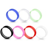 "7 Pair Color Mix Lot Flexible Silicone Tunnels (6G-5/8"")"