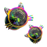 "Rainbow Center Kitty Screw Fit Tunnels (2g-1/2"")"
