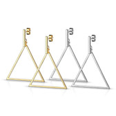 Bar & Triangle Dangle Stainless Steel Stud Earrings