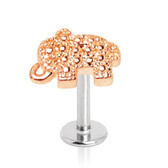 Two-Tone Elephant Top Steel Labret Monroe Stud