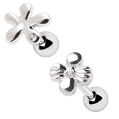 2PC Set Wildflower Steel Cartilage Studs