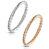 Twisted Band Stackable Steel Ring (Size 5-10)