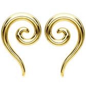 Goldtone PVD Steel Spiral & Tail Tapers (12G-0G)