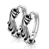 Waves Stainless Steel Hoop Earrings