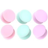 "3 Pair Pastel Color Solid Silicone Plugs (2g-1"")"