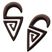 Organic Sono Wood Triangle Maze Hanger Plugs