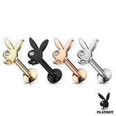 Clear Eye Playboy Bunny Steel Labret Monroe Stud