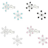 Icy Snowflake 925 Sterling Silver Stud Earrings