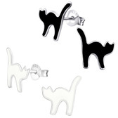 Kitty Cat 925 Sterling Silver Stud Earrings