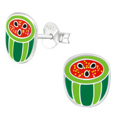 Watermelon 925 Sterling Silver Stud Earrings