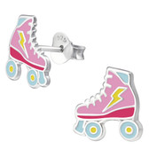 Roller Skates 925 Sterling Silver Stud Earrings
