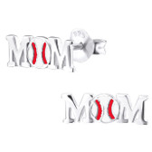 Baseball Mom 925 Sterling Silver Stud Earrings