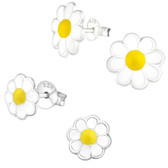 Daisy Flower 925 Sterling Silver Stud Earrings