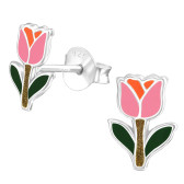 Tulip 925 Sterling Silver Stud Earrings