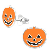 Jack-O'-Lantern  925 Sterling Silver Stud Earrings