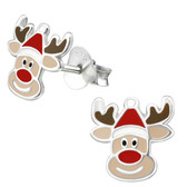 Rudolph 925 Sterling Silver Stud Earrings