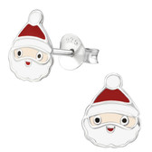 Santa w/Skully 925 Sterling Silver Stud Earrings