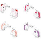 Unicorn Bling 925 Sterling Silver Stud Earrings