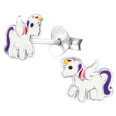 Small Unicorn 925 Sterling Silver Stud Earrings