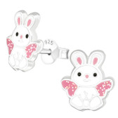 Glitter Rabbit 925 Sterling Silver Stud Earrings