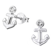 Anchor 925 Sterling Silver Stud Earrings