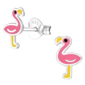 Flamingo 925 Sterling Silver Stud Earrings
