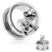 "T-Rex Dinosaur Steel Screw-Fit Tunnels (00g-3/4"")"