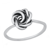 Rose Flower Knot 925 Sterling Silver Ring