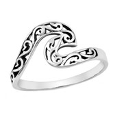 Filigree Wave 925 Sterling Silver Ring