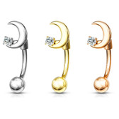 Crescent Moon Surgical Steel Curved Barbell