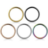 18G-16G Braided Steel Hinged Segment Ring Hoop
