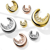 "Floral Filigree Steel Saddle Spreader Plugs (00g-1"")"