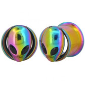 "Rainbow Alien Screw-Fit Steel Tunnels (2g-5/8"")"