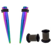 4PC Ear Stretching Kit 1G-7mm Color Mix/Match