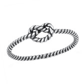 Braided Knot Oxidized 925 Sterling Silver Ring