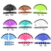 36PC Ear Stretching Kit Acrylic Tapers/Plugs 14G-00G