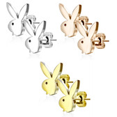 Playboy Bunny Surgical Steel Stud Earrings