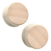 Crocodile Wood Plugs Double Flared (2G-38MM)