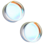 "AB Flat Glass Plugs Double Flared (2g-1"")"