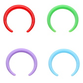 16G-14G 4PC Lot Flexible Acrylic Septum Pinchers
